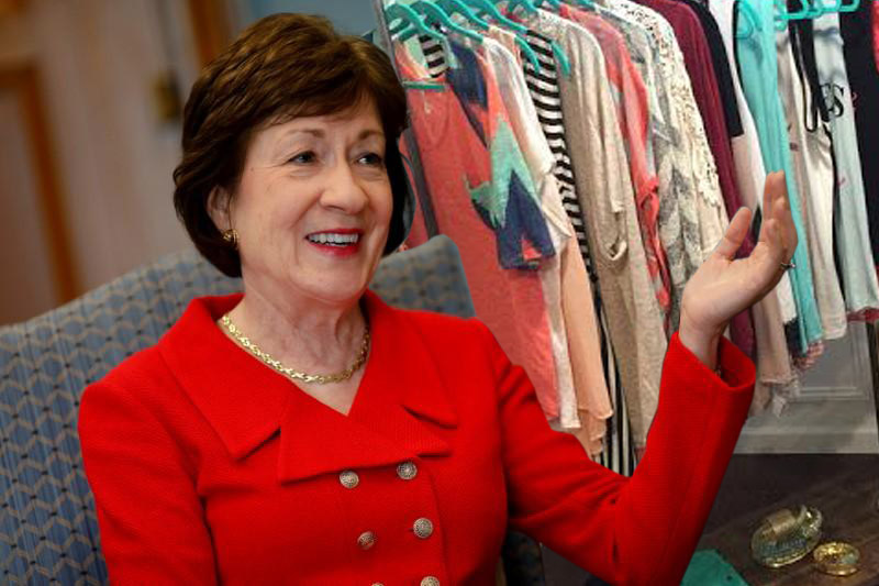 Susan Collins Holds Press Conference Announcing She Has a Great Selection of LuLaRoe Products to Fit Anyone's Style