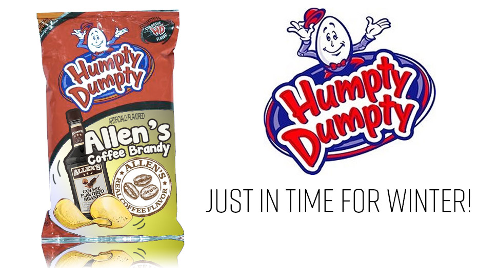 Humpty Dumpty Potato Chips Premieres New Allen's Coffee Brandy Flavor